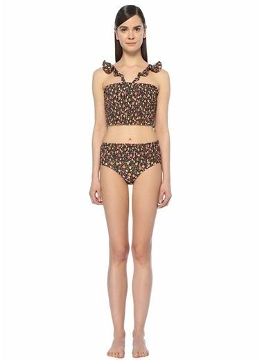 Ganni Çiçekli Yüksek Bel Bikini Takım Renkli